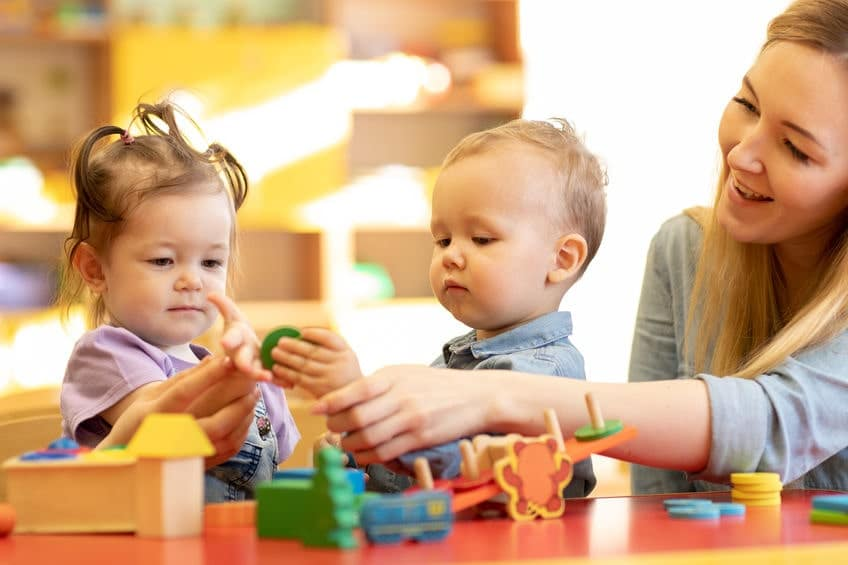 toddlers in childcare center